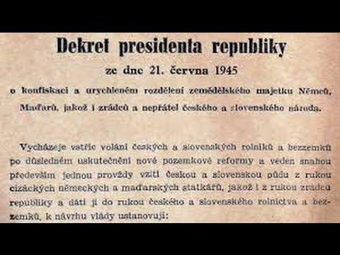 Benešovy dekrety -dokument