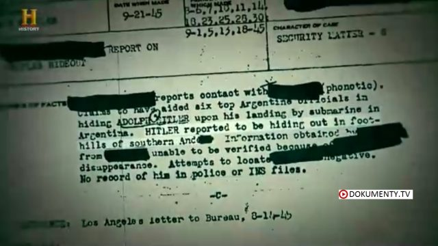 Hon na Hitlera – seria 2 / část 1: Prubeh patrani -dokument