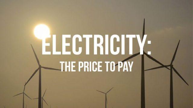 Účet za elektrinu -dokument